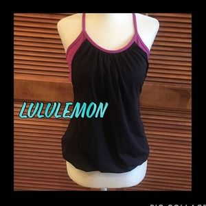 🔥🔥Lululemon black top with bra and waistband🔥🔥